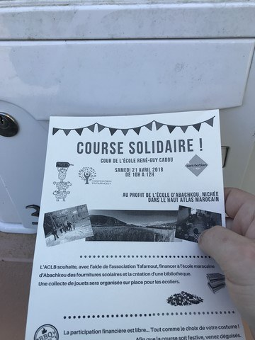 annonce course solidaire ACLB Tafarnout