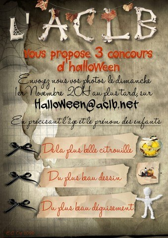 Concours Halloween 2020 avec l'ACLB